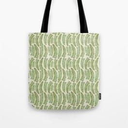 Palm leaves in tiger print Tote Bag