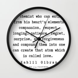 9  | Kahlil Gibran Quotes | 190701 Wall Clock