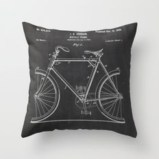 Bicycle Frame Patent Throw Pillow