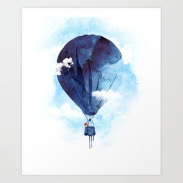 Bye Bye Balloon Art Print