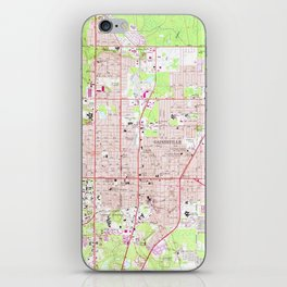 Vintage Map of Gainesville Florida (1966) iPhone Skin