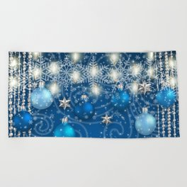 Christmas decoration Beach Towel