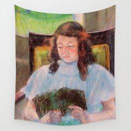 Cassatt, Mary (1844-1926) Young reading girl, 1908 Wall Tapestry