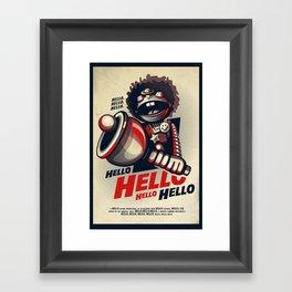 HELLO! HELLO! (white) Framed Art Print