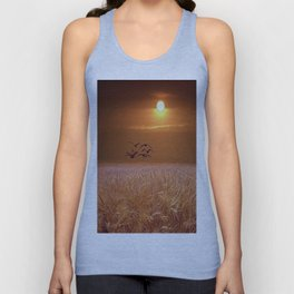 bird and yellow Unisex Tank Top