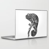 chameleon Laptop & iPad Skins featuring Chameleon  by Rebexi