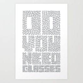 Do you need glasses? Art Print