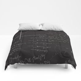 Mathematical seamless pattern Comforters