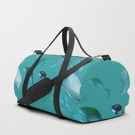 Fish tales: Whale pattern 1a Duffle Bag