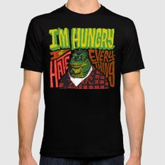 Hungry Earl Mens Fitted Tee MEDIUM Black