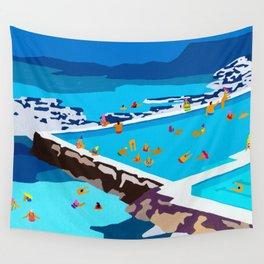 Iceberg pools Wall Tapestry