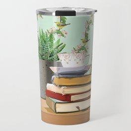 Tea and book love Travel Mug