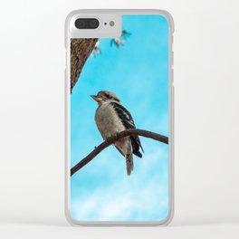 Kookaburra sits in the Old Gumtree. Clear iPhone Case