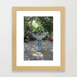 Naples Birdbath- vertical Framed Art Print