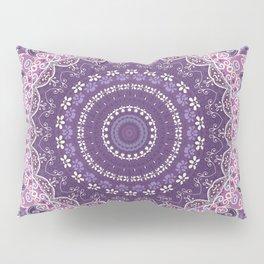 Purple Lace Mandala Pillow Sham