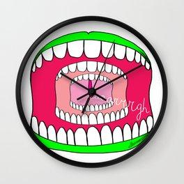 Scream AAARGH! Wall Clock