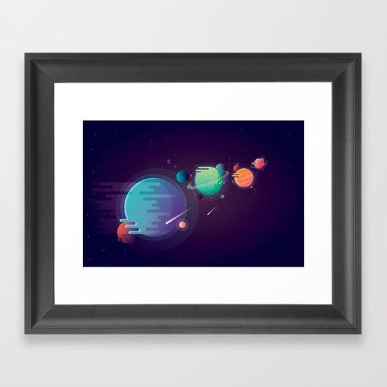 Alien Planets Framed Art Print
