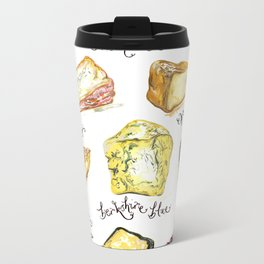 Cheese Glorious Cheese Print by Jessie Bayliss Metal Travel Mug