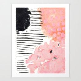 Pink Abtract #324 Art Print
