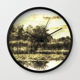 Lily Pond Vintage Wall Clock