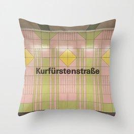 Berlin U-Bahn Memories - Kurfürstenstraße Throw Pillow