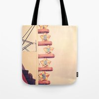 theatre Tote Bags featuring Texas Theatre by maybesparrowphotography
