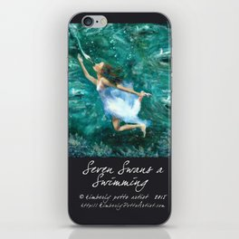 Seven Swans a Swimming iPhone Skin