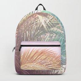 Wild palm leaves Nostalgia Backpack