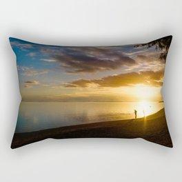 Beach Sunset- Cook Islands Rectangular Pillow