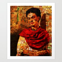 Kahlo Collage Art Print