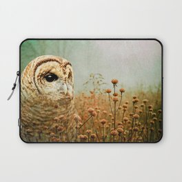 Barred Owl in Foggy Forest Laptop Sleeve