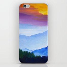 Smokey Mountain Sunset iPhone Skin