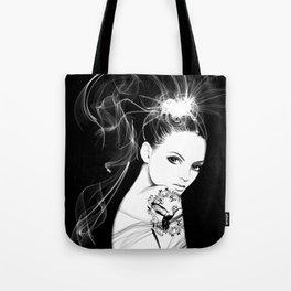 Smoke Girl Tote Bag