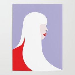 Joni Mitchell (red) Poster