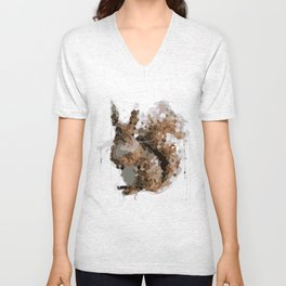 Squirrel you glad to see me? Unisex V-Neck