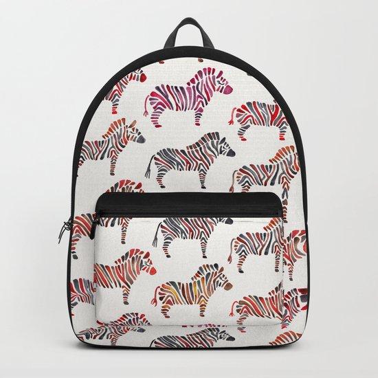 Zebras – Rainbow Palette Backpack
