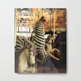 Merrily We Go - Carousel Art Metal Print