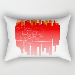 Abstract Guitar City Rectangular Pillow