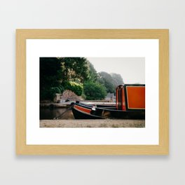 Moored Barge Framed Art Print