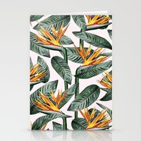 Stationery Cards featuring Bird Of Paradise Pattern #society6 #decor #buyart by 83 Oranges™