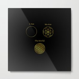 Sacred Geometry The World Metal Print