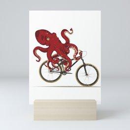 Cycling Octopus Bicycle Enthusiast Invertebrate Steampunk Bike Graphic T Shirt Mini Art Print