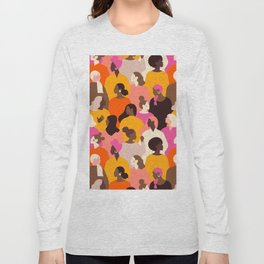 Female diverse faces Long Sleeve T-shirt
