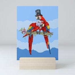 Happy couple in love-Macaws-Parrots-Bird-Animal Mini Art Print