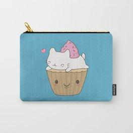 Kawaii Cute Cat Cupcake Carry-All Pouch