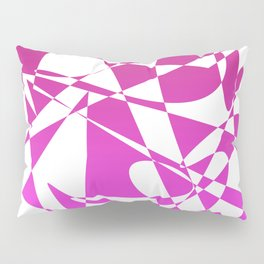 geometical pink abstract shapes Pillow Sham