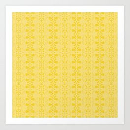 yellow pattern Art Print