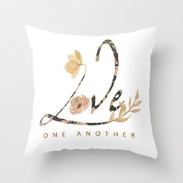 LOVE - one another Throw Pillow