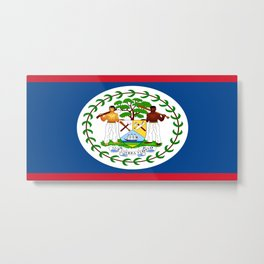 flag of belize-Belice, Belizean,Belize City,beliceno,Belmopan Metal Print