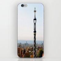 barcelona iPhone & iPod Skins featuring Barcelona by Marina Khamhaengwong